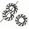 Metalized Bead with Sterling Silver coating 10mm Rope